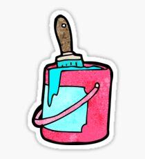 cartoon bright paint can Sticker