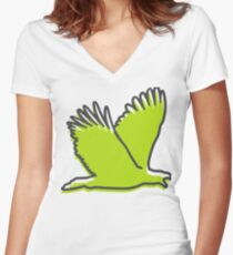 A soaring eagle Women's Fitted V-Neck T-Shirt