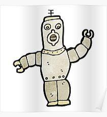 cartoon robot Poster