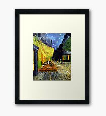 Café Terrace at Night by Van Gogh Framed Print