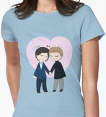Chibi Charles And Erik Women's Fitted T-Shirt