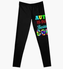 Autismus ist solch eine schöne Farbe Autismus-Bewusstseinshemd-Aufkleberschalen Leggings