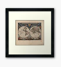 World Map 1664 Framed Print
