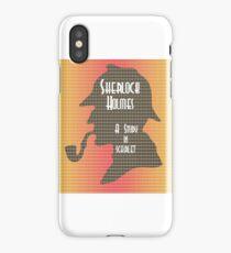 A Study In Scarlet iPhone Case/Skin