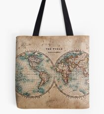 World Map Mid 1800s Tote Bag
