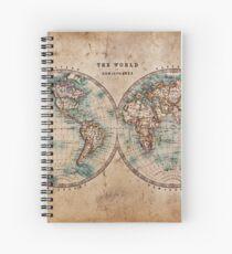 World Map Mid 1800s Spiral Notebook