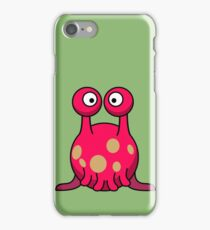 Strange funny pink monster with tentacles cartoon iPhone Case/Skin