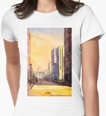 Raleigh, NC downtown- watercolor painting T-Shirt