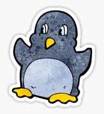 funny cartoon penguin Sticker