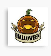 Halloween - Jack O Lantern Canvas Print