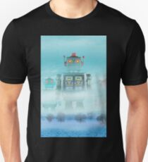 Robot blue Unisex T-Shirt