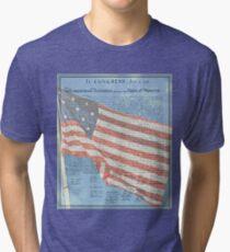 Declaration of Independence & Star-Spangled Banner Tri-blend T-Shirt