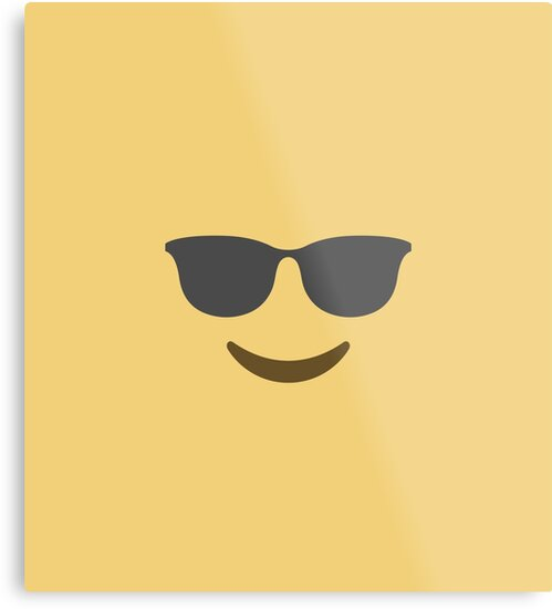 emoji cool face smiling face with sunglasses by manaah