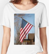 The American Flag Women's Relaxed Fit T-Shirt