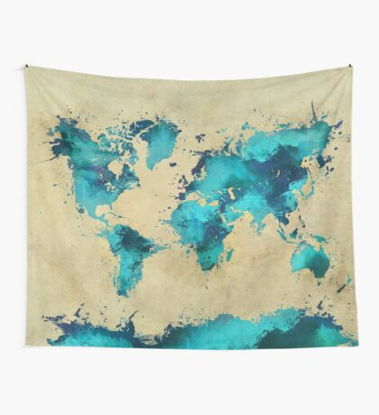 world map 38 Wall Tapestry