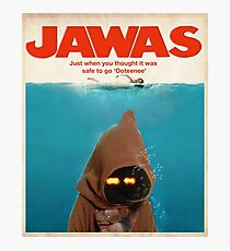 Jawas : Inspired by Star Wars & Jaws Photographic Print
