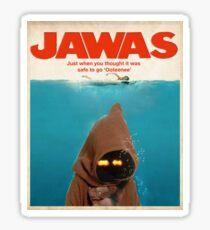Jawas : Inspired by Star Wars & Jaws Sticker