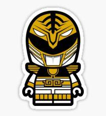 White Power Chibi Ranger Sticker