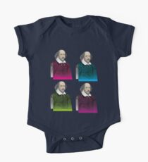 WILLIAM SHAKESPEARE, 4-UP ON BLACK One Piece - Short Sleeve