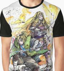 Link and Zelda Samurai Duo ready to fight! Graphic T-Shirt
