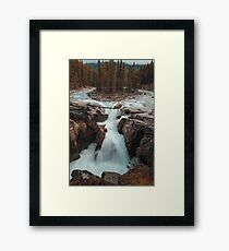 Long Exposure Autumn Waterfall Art Prints and Posters Framed Print