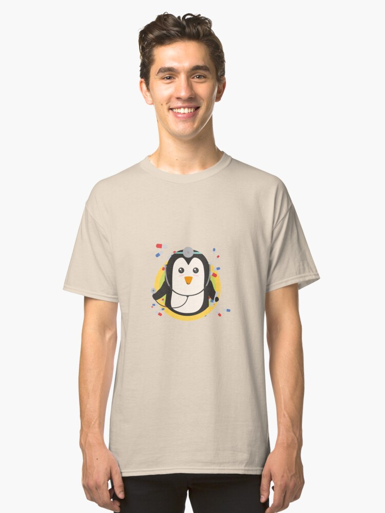 Penguin doctor in circle Classic T-Shirt Front