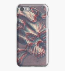 Skull with ribbon  iPhone Case/Skin