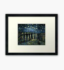 Starry Night Over the Rhône by Van Gogh Framed Print
