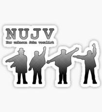 NUJV Sticker