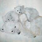 POLAR BEAR  +  CUBS by Heidi Mooney-Hill
