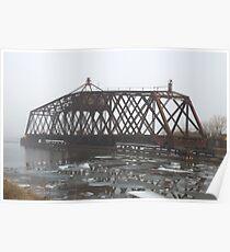 Turn Style Bridge in Fog Poster
