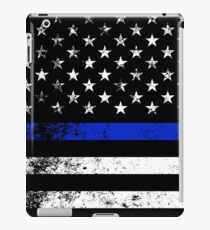 Police Styled Distressed Horizontal American Flag  iPad Case/Skin