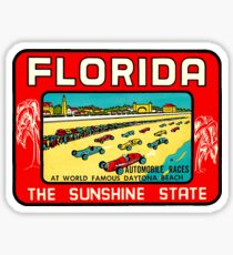 Daytona Beach Florida Vintage Travel Decal Sticker