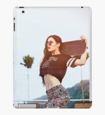 Sport girl with skateboard iPad Case/Skin