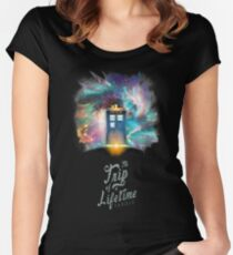 TARDIS - Trip of a Lifetime Women's Fitted Scoop T-Shirt