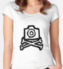 Camera and crossbones Women's Fitted Scoop T-Shirt