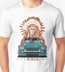 True American. Chevy Apache Pickup Truck (aquamarine) T-Shirt
