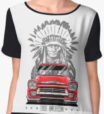 True American. Chevy Apache Pickup Truck (red) Chiffon Top