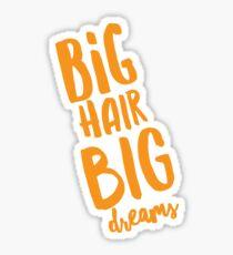 Big Hair Big Dreams Sticker