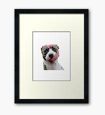 Tongue Doggo Framed Print