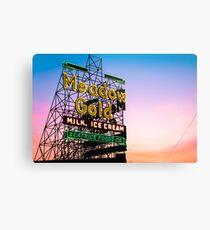 Tulsa Route 66 Neon - Meadow Gold Historic Oklahoma Print Metal Print