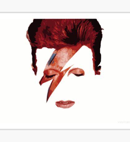 Daviud Bowie shadow man Sticker