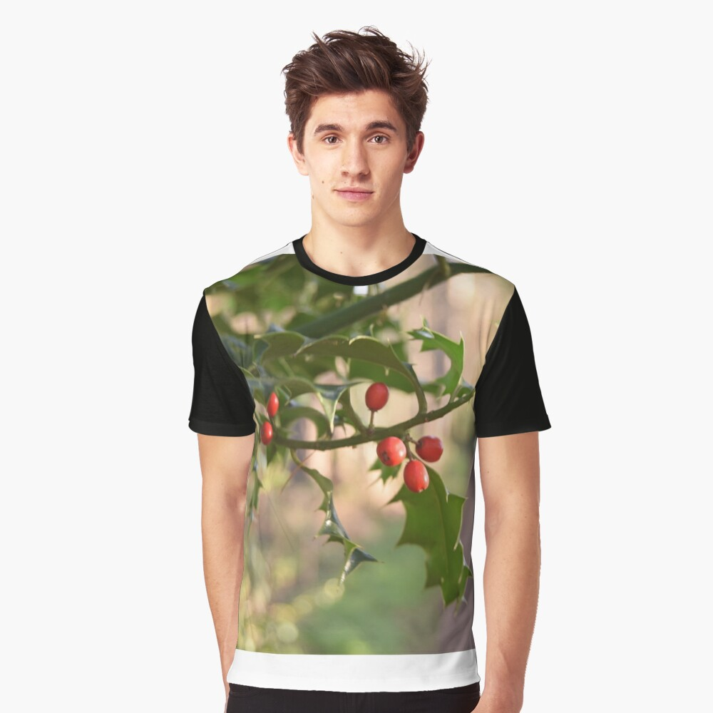 Holly Berries Graphic T-Shirt Front