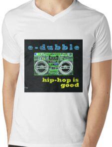 e-dubble - Hip-Hop is Good Album Art Mens V-Neck T-Shirt