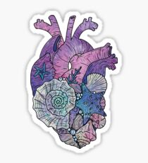 ' Mermaids Heart ' Ocean Inspired Illustration Sticker