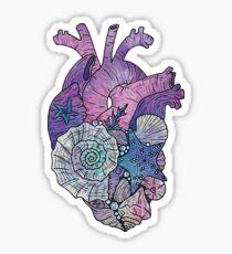 ' Mermaids Heart ' Ocean Inspired Illustration Sticker