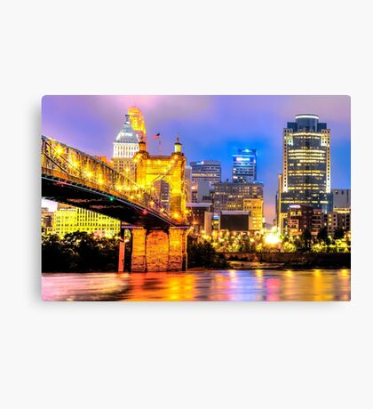 Downtown Skyline of Cincinnati Canvas Print