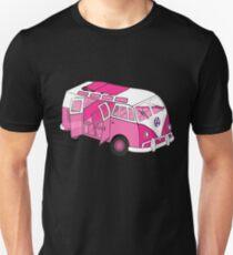 Split Screen VW Camper Van Pink T-Shirt