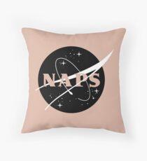 NASA Pays me to Nap  Throw Pillow