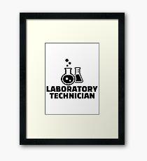 Laboratory technician Framed Print